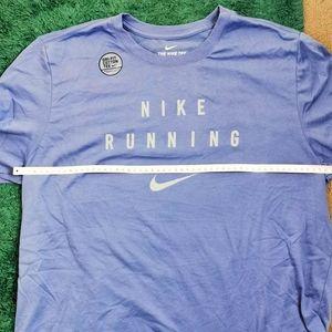 Nike Running Tees Mens Size Large Dri-Fit Purple NWOT Cotton Sports Short Sleeve